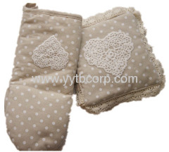 domiciliary gentlewomanly kitchenware,microwave glove, cup mat