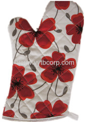 flower printing canvas chinese style microwave glove,clean glove