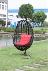 Outdoor Rattan Patio Swing Chair Set