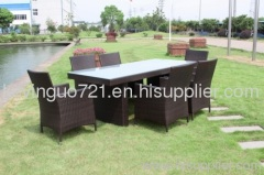 Outdoor Rattan Patio Porch furniture Dining Set