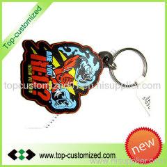 Rubber Pvc key chain keyring keychain