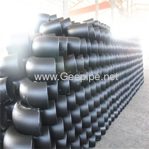 china carbon steel seamless long radius pipe fitting