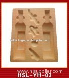 plastic wine bottle tray box container flocking blister pack