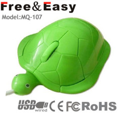 3d computer wired turtle mouse