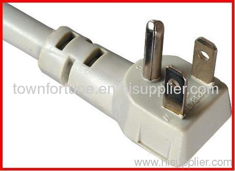 3 prong angled 5-15p plug with cords for America