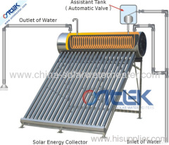 Stainless steel pre-heated solar water heater, solar geyser