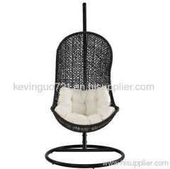 Rattan Outdoor Wicker Patio Swing Chair Set