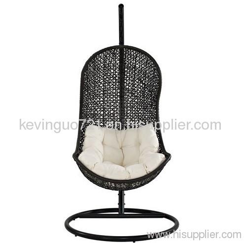 Rattan Outdoor Wicker Patio Swing Chair Set