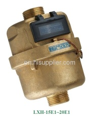 Brass rotary piston water meter