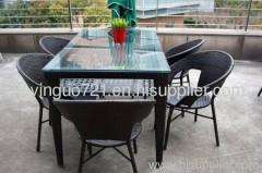Outdoor garden rattan furniture--dining set