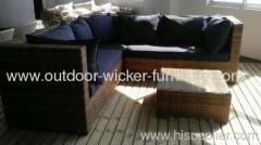 Rattan outdoor wicker sofa sets