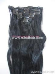 wholesale Virgin Brazilian clip in hair extension
