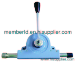 road sweeper directional control lever
