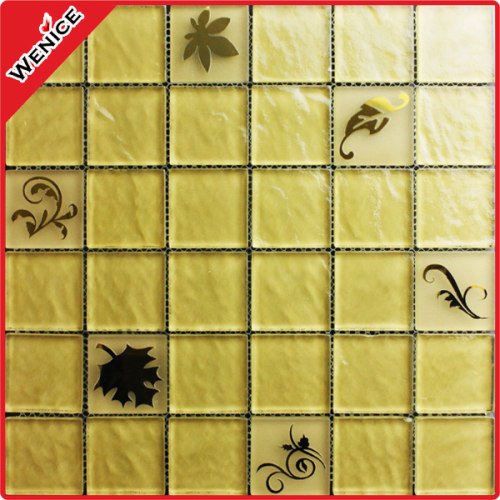 Golden tile mosaic hotel decoration