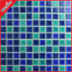 Mixed colors mosaics around the pool 25x25