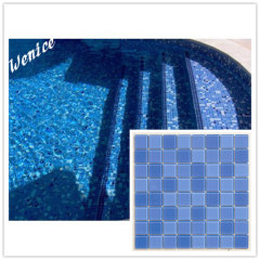 Swimming pool waterproofing mosaic tile