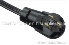 UL CUL 3 prong Angled Nema 5-15P power cord