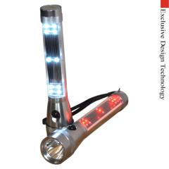 Solar LED Flashlight magnetic Tail Warning LED