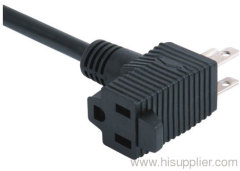 3prong piggback plug with cord for America