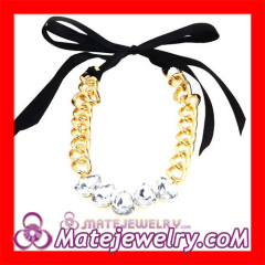 Rhinestone Goldplated Chunky Chain Necklace