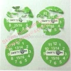 Custom Small Round Warranty Dates Labels