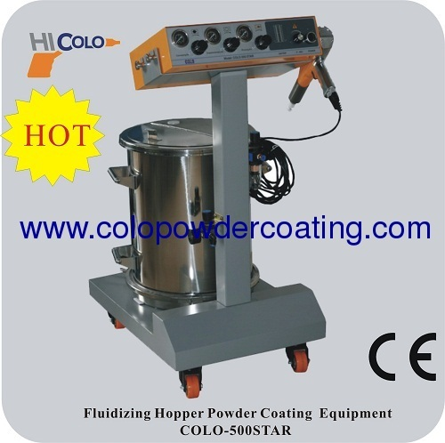 hopper feed mamual electrostatic powder coating machine