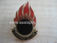 Sun shape lapel pin.Sport torch badges