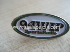 Oval shade lapel pin