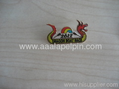 Cloisonne lapel pin with dragon shape