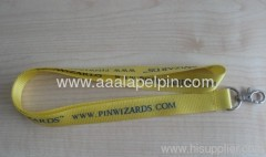 yellow colos Nylon lanyards