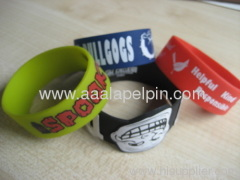 fashion imprinted silicone wristbands