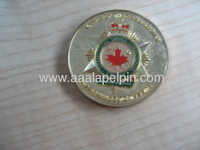 high quality Challenge Coin pin Military coins on both side