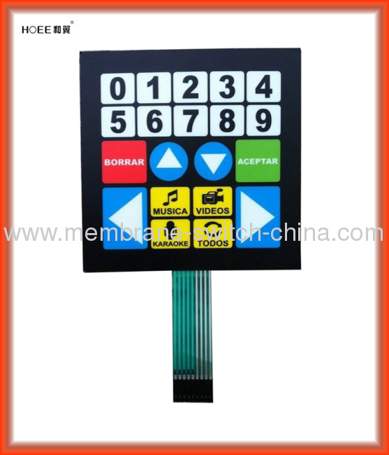 non-tactile membrane switch supplier China