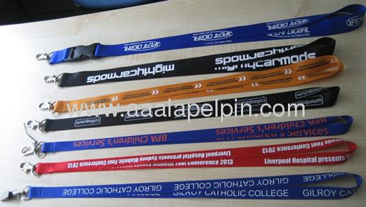 Popular Nylon lanyards lanyards lanyards manufacturer/lanyards for promotion gift