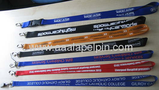 Nylon lanyards in all colors /fashion nylon lanyards /Popular lanyards for promotion