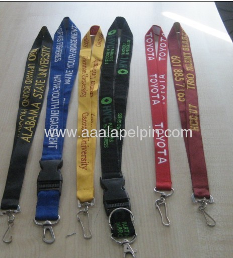 Woven Polyester lanyards for promotion