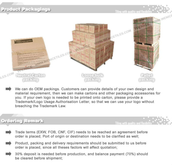 Outdoor tile for construction projects