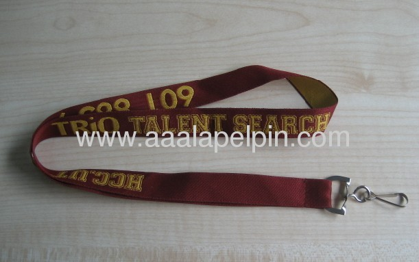 woven lanyards for promotion gift ,fabric woven logo lanyard for your business promotion