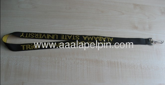 woven lanyards for promotion gift /fabric woven logo lanyard