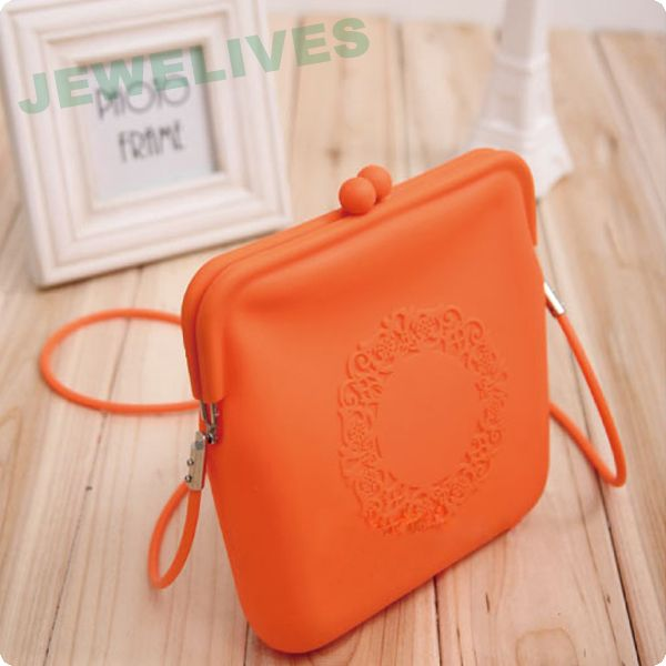 Fashion Silicone Cosmetic Bag with Lace design