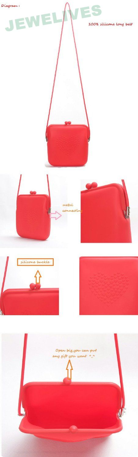 Pop selling Silicone Saddle Bag with Lace design