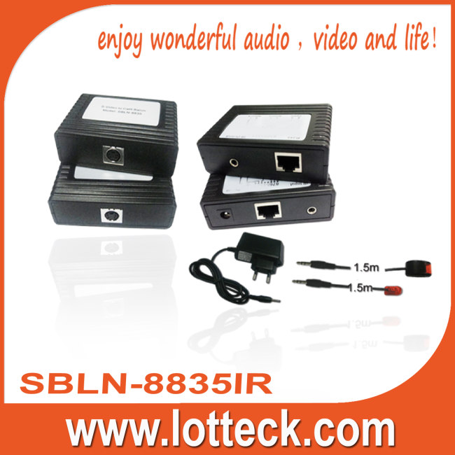 S-Video+IR extender over lan cable Cat5/5e/6