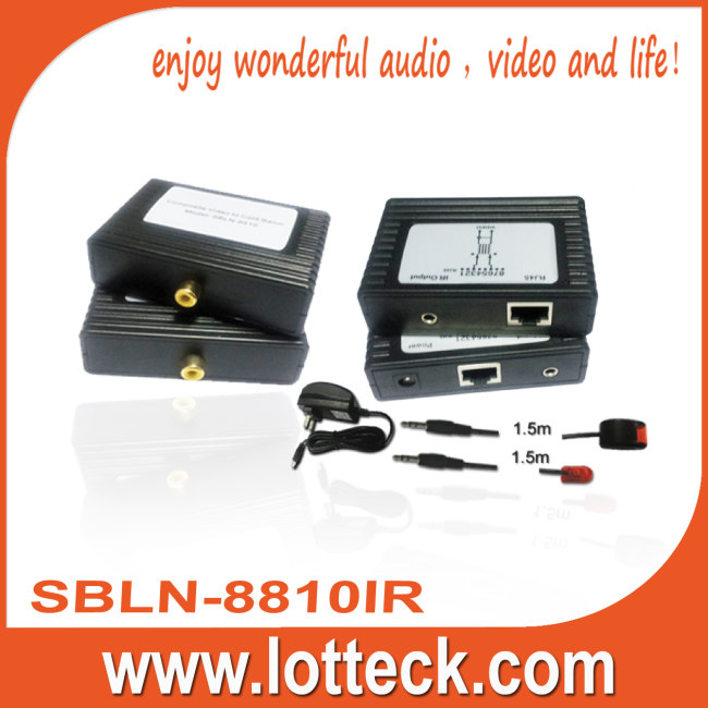 Composite Video+IR extender over lan cable Cat5/5e/6