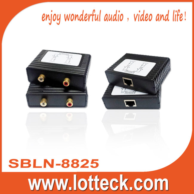 L/R Audio extender over lan cable Cat5/5e/6