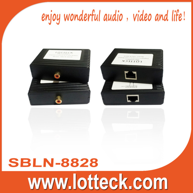 Digital Audio extender over lan cable Cat5/5e/6