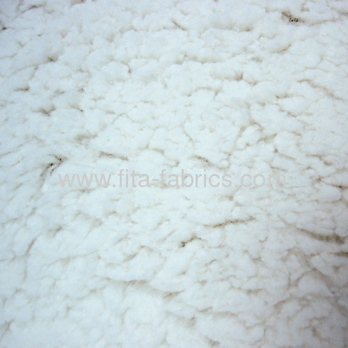 100% Polyester fake lamb fur fabric/berber fleece