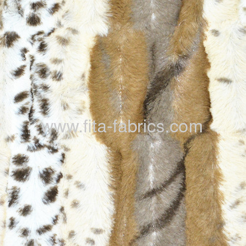 100% polyester embossed/printed pv plush fabric/faux fur