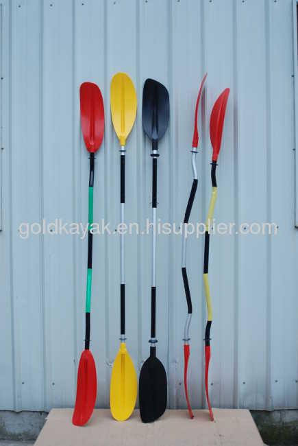 bend paddle aluminum polefor kayak or canoe, or other sports