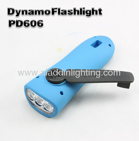 Dynamo FM radio Iphone charger 3 LED Radio Flashlight