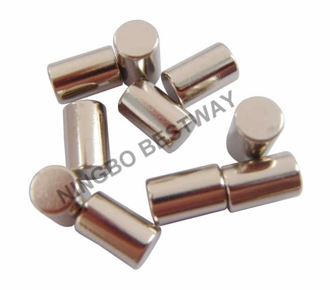 N42 D10x25mm Neodym Magnet NiCuNi coating